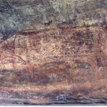 Bhimbetka Bull rock painting, Madhya Pradesh, India