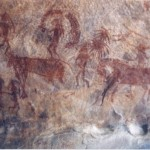 Bhimbetka rock painting, Madhya Pradesh, India (30,000 years old)