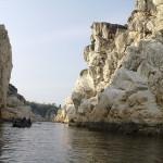 White_Marble_Rocks_at_Bhedaghat Narmada River