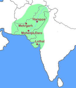 Indus Valley civilization boundaries map